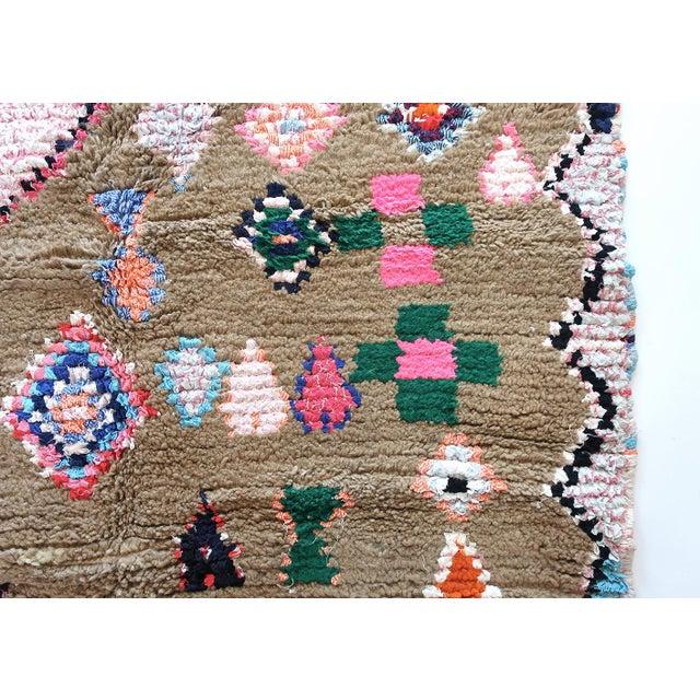 Tan Moroccan Boucherouite Rug - 4′6″ × 6′5″ For Sale - Image 8 of 13