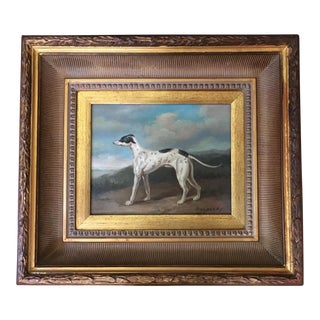"""Grady"" Greyhound Portrait Oil Painting For Sale"
