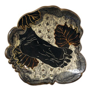 Contemporary Ceramic Wall Sculpture by Kim Lavonne For Sale