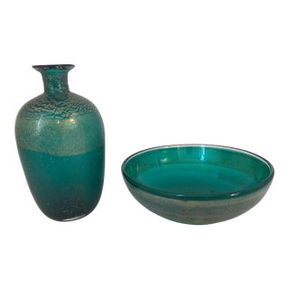 Scavo Glass by Gambaro and Poggi - a Pair For Sale