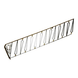 Midcentury Mexican Modernist Talleres Chacon Handrail, Arturo Pani For Sale