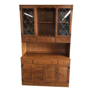Ethan Allen Colonial China Cabinet