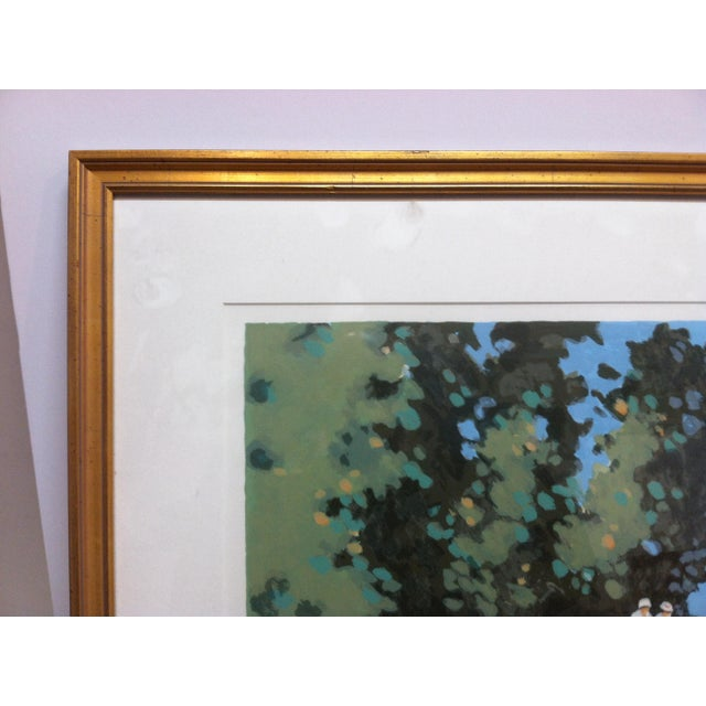 "Mid 20th Century Vintage Mid-Century Frederick McDuff ""Reflections"" Framed & Matted Limited Edition Print For Sale - Image 5 of 10"