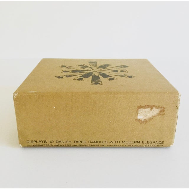 Black 1970s Vintage Hallmark Candles Inc. Danish Taper Candle Holder For Sale - Image 8 of 12