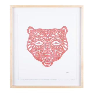 Stacey Elaine Coral Bear Mask Collage For Sale