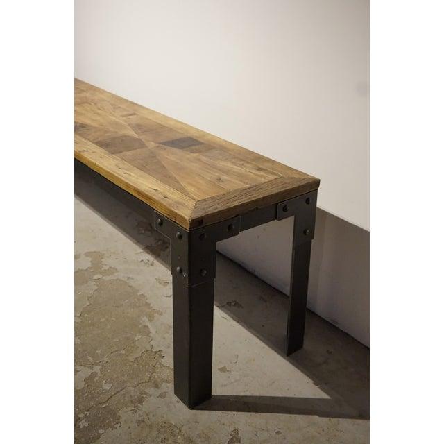 Wood & Metal Bench - Image 3 of 5