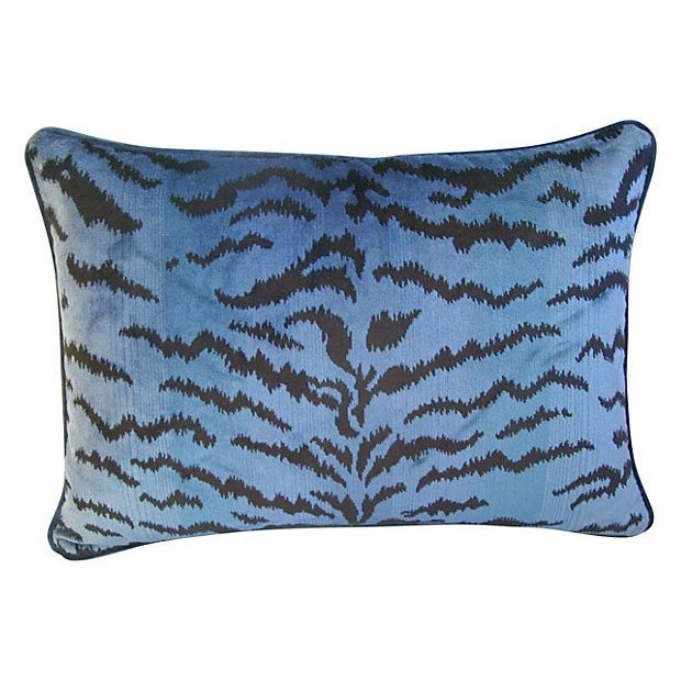 Blue & Black Scalamandre Le Tigre Pillow - Image 3 of 3