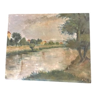 Rustic French Landscape Painting
