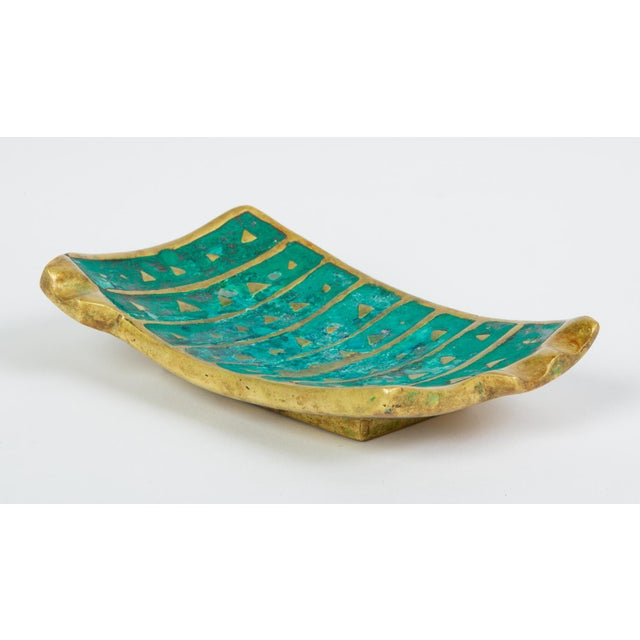 Mexican Modern Cloisonné Ashtray by Pepe Mendoza For Sale In Los Angeles - Image 6 of 11