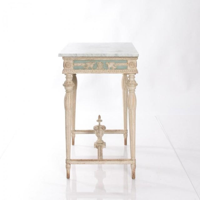 Wood Early 19th Century Swedish Empire Console For Sale - Image 7 of 10