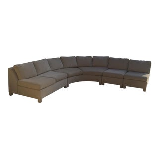 Vintage Curved Sectional Sofa For Sale