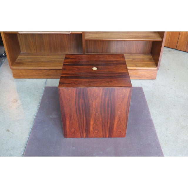 1960s Mid Century Modern Rare Rosewood Nesting Table Set For Sale - Image 9 of 11