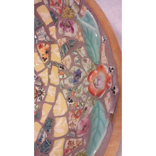 Hand Crafted Mosaic Footed Oval Bowl - Image 7 of 7