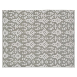 Stark Studio Contemporary Linen Soumak Linen Rug - 8′ × 10′1″ For Sale