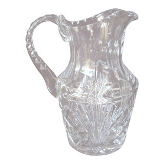 Vintage Cut Glass Pitcher For Sale