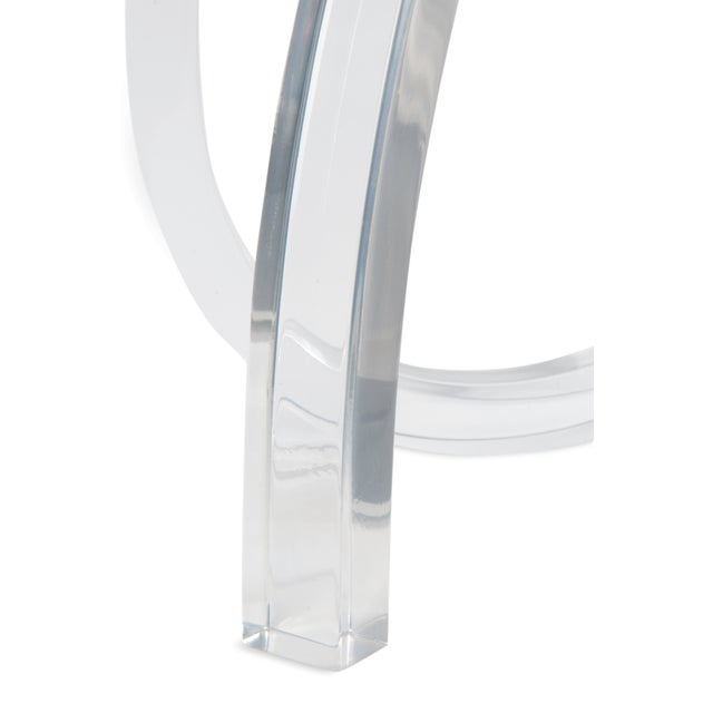 Lucite Loop Table Lamp - Image 3 of 5