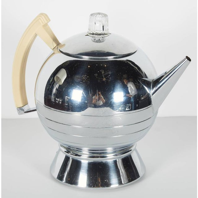 Art Deco Art Deco Machine Age Coffee Service Set by Walter Von Nessen for Chase For Sale - Image 3 of 10