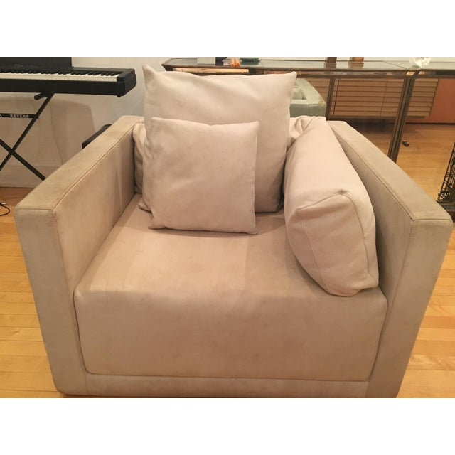 """This pair of Armani Casa """"Sydney"""" Italian armchairs were purchased from their store in Soho for retail price of $15,000...."""
