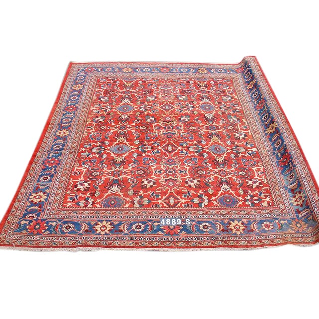Red Mahal Rug - 10′7″ × 11′11″ For Sale