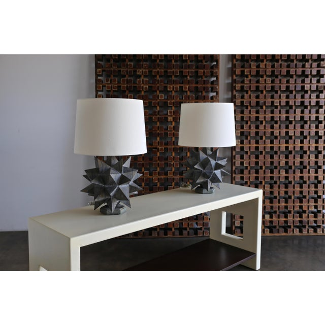 Sculptural Metal Table Lamps, Circa 1965 - a Pair For Sale In Los Angeles - Image 6 of 12