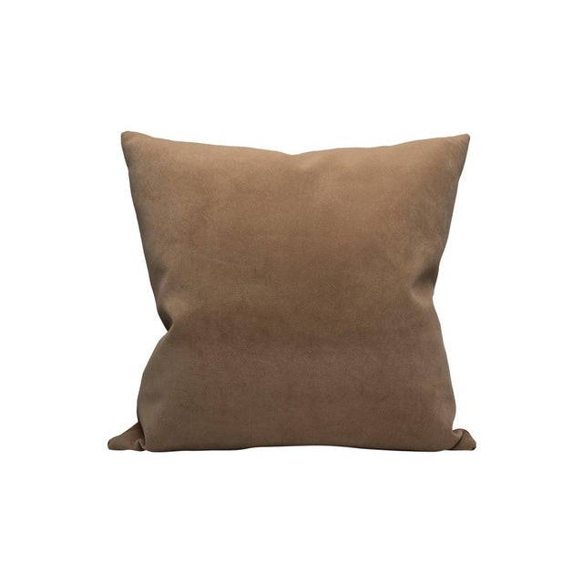 Transitional Scalamandre Georgia Suede Pillow, Dune For Sale - Image 3 of 3