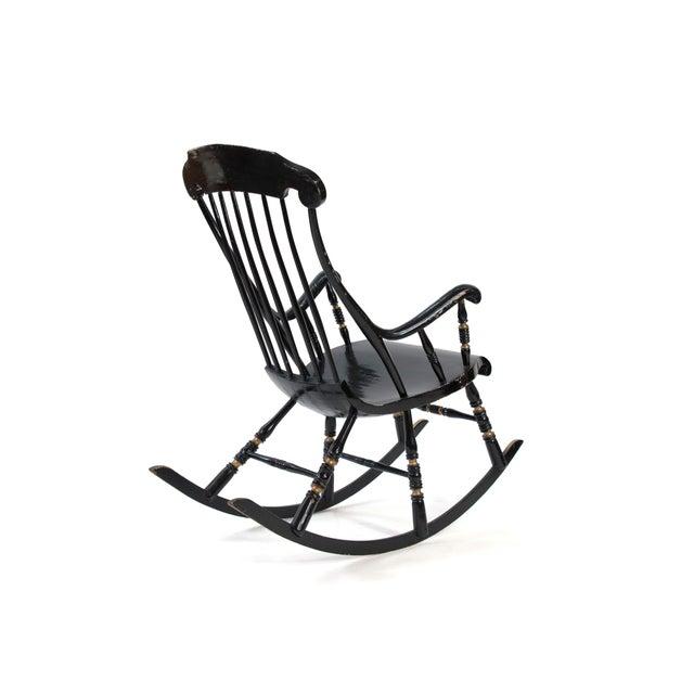 19th Century 19th Century Vintage Swedish Gungstol Rocking Chair For Sale - Image 5 of 12