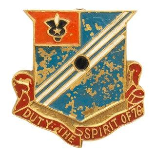 Vintage Original 76th Field Artillery Regiment Unit Crest