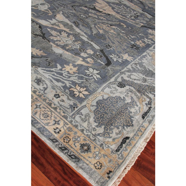 Textile Loch Hand knotted Wool Emerald Rug-12'x15' For Sale - Image 7 of 8