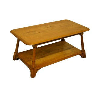 """Mid Century Modern Solid Hard Rock Maple 38"""" Accent Coffee Table For Sale"""