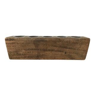 Wooden Sugar Mold Candle Holder