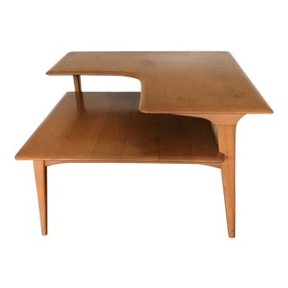 Vintage Mid Century Modern Corner Step Table by Heywood-Wakefield For Sale