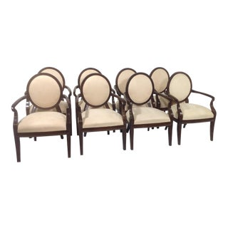 Modern Cream Dining Chairs- Set of 8 For Sale