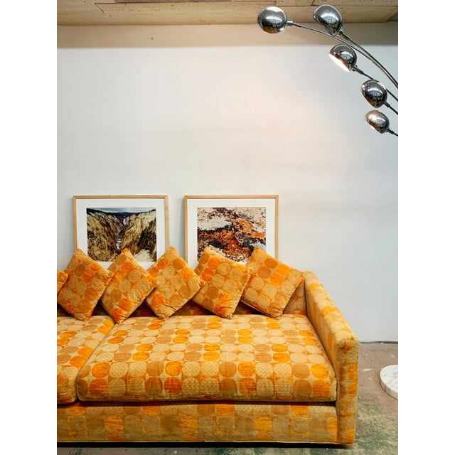 Jack Lenor Larsen Milo Baughman Style Two-Piece L-Shaped Sectional Sofa For Sale In West Palm - Image 6 of 13