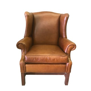 Leather Wingback by Ethan Allen