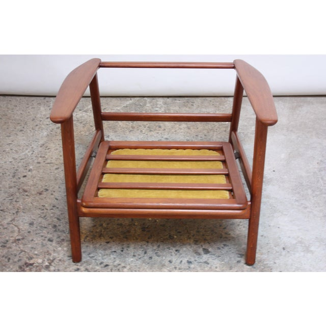Danish Modern Reclining Lounge Chair in Ochre Mohair For Sale - Image 10 of 13