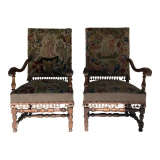 19th Century French Arm Chairs - a Pair For Sale