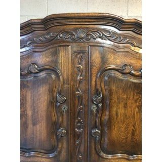 19th Century French Provincial Carved Wood Armoire Preview