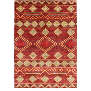"Navajo Hand Knotted Wool Rug-9'11"" X 13'11"" For Sale"