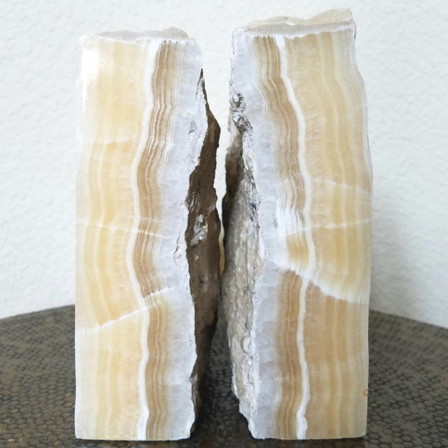 Vintage Natural Stone Bookends- A Pair - Image 5 of 8
