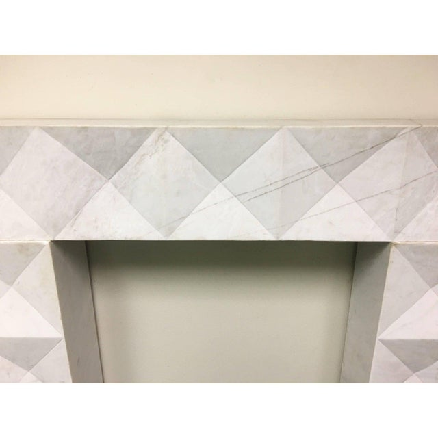 De Coene Frères 1960s Brutalist Style Mantel in Carrara Marble in Style of De Coene Frères For Sale - Image 4 of 10