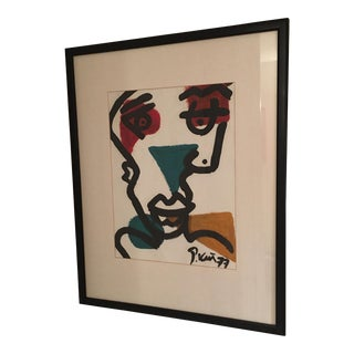 Peter Keil 1977 Abstract Cubist Oil Painting