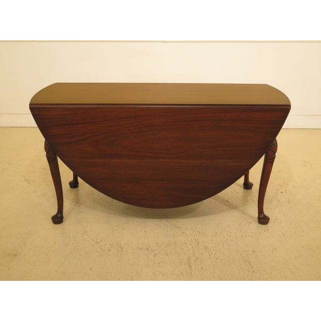 1960s Queen Anne Kittinger Colonial Williamsburg Mahogany Drop Leaf Table For Sale - Image 12 of 12