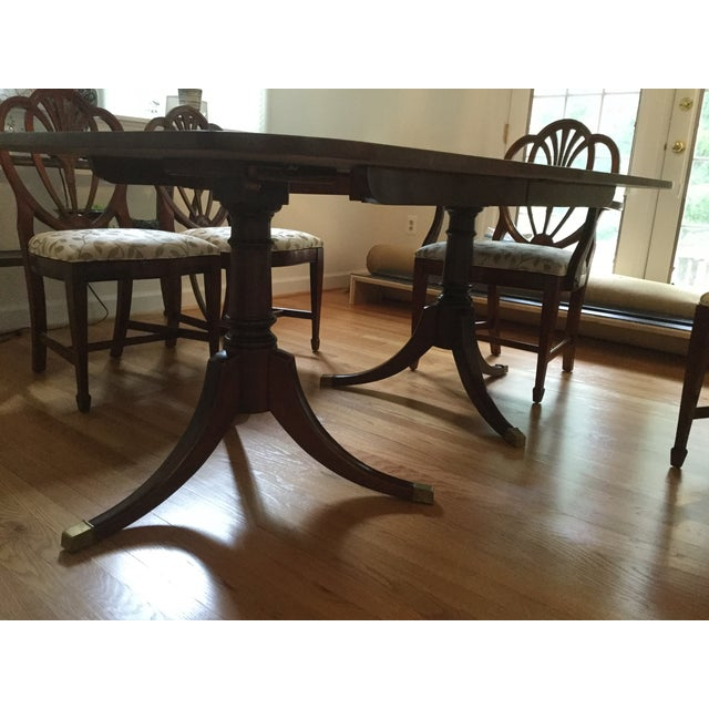 Drexel Travis Court Dining Room Table - Image 4 of 6