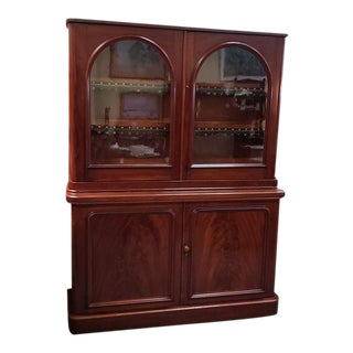 C.1860 Victorian Mahogany Cabinet. For Sale