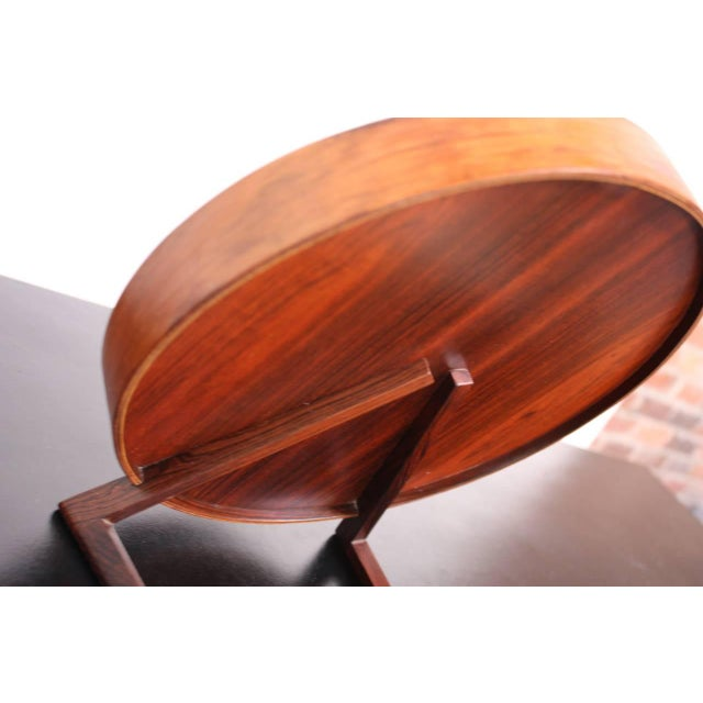 Swedish Rosewood Table Mirror by Uno and Östen Kristiansson for Luxus - Image 4 of 9