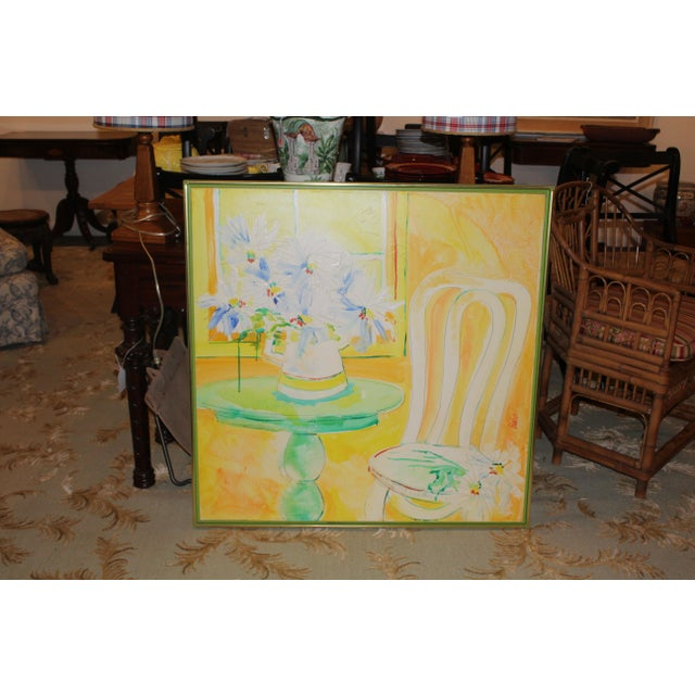 Yellow Vintage Mid-Century Yellow Still Life Painting For Sale - Image 8 of 12
