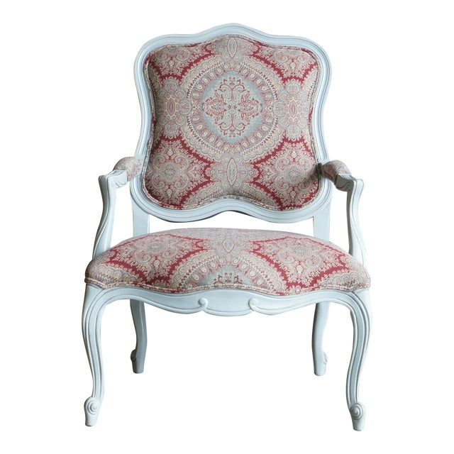 Modern Ethan Allen French Provincial Chantel Accent Chair For Sale