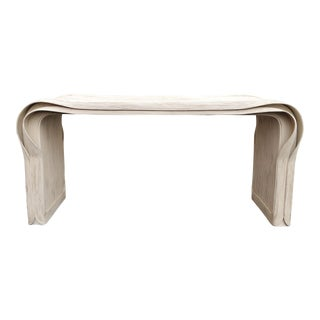 """Rare Betty Cobonpue Pencil Reed """"Ribbon"""" Console Table For Sale"""