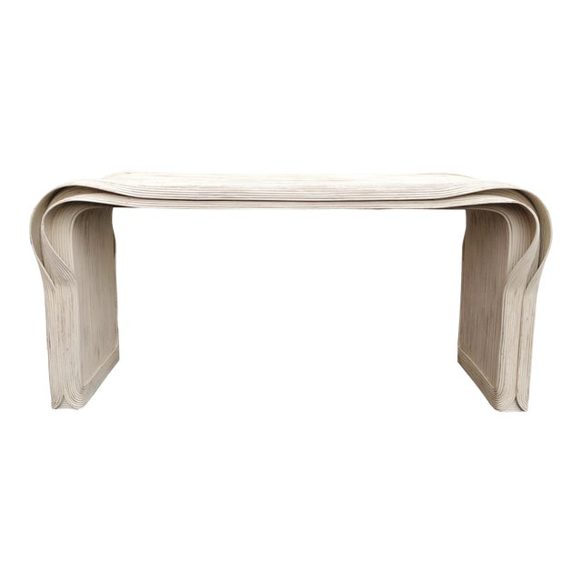 "Rare Betty Cobonpue Pencil Reed ""Ribbon"" Console Table For Sale"
