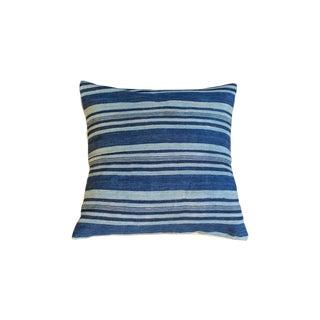Large Dark Indigo Blue Pillow